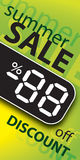 Vector sale poster Royalty Free Stock Photo