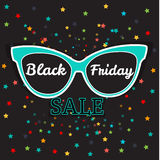 Vector sale poster advertising Black Friday. Sunglasses Black Friday sale. Stock Photo