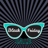 Vector sale poster advertising Black Friday. Sunglasses Black Friday sale. Stock Images