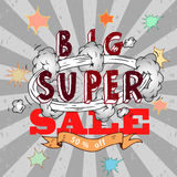 Vector sale poster Stock Images