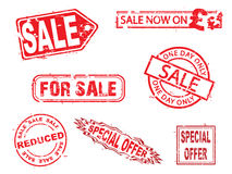Vector, sale rubber stamps series Royalty Free Stock Photography