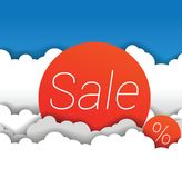 Vector sale sign in clouds. This is file of EPS10 format Royalty Free Stock Photography