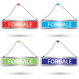 Vector For Sale Sign set Stock Image