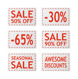 Vector sale signs Royalty Free Stock Photography