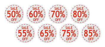 Vector sale signs Stock Photos