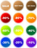 Vector sale stickers Royalty Free Stock Photo