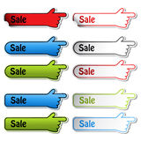 Vector Sale stickers of hand Royalty Free Stock Images