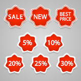 Vector sale stickers and labels. Royalty Free Stock Photo