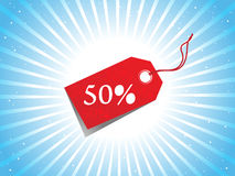 Vector - sale tag with discount and background. A Vector - sale tag with discount and background Royalty Free Stock Photography