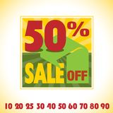 Vector sale tag sign illustration Stock Photography