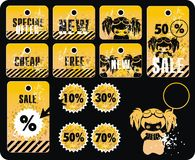 Vector Sale Tag Stickers Royalty Free Stock Image