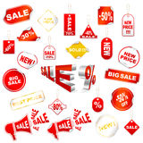 Vector sale tags Royalty Free Stock Photos