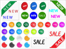 Vector sale tags Royalty Free Stock Photo