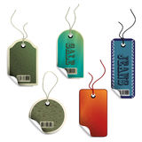 Vector sale tags Stock Photography