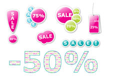 Vector sale tags and labels Stock Photo