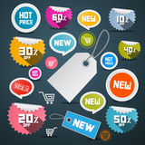 Vector Sale Tags Set Stock Photo