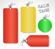 Vector sale tags (set 1) Royalty Free Stock Images