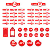 Vector Sale Tags Stock Image