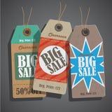 Vector Sale tags set vintage vector illustration