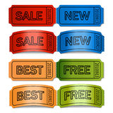 Vector sale tickets Royalty Free Stock Images
