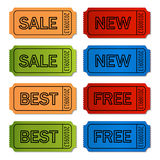 vector sale tickets Royalty Free Stock Photography