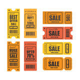 Vector sale tickets. Stock Photos