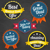 Vector sales labels collection Royalty Free Stock Photo