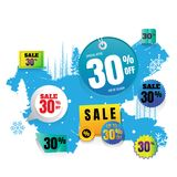 Vector sales and percents illustration. on white background. ban. Ner. discount Stock Image