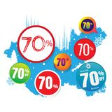 Vector sales and percents illustration. on white. Background. banner. discount Stock Photo