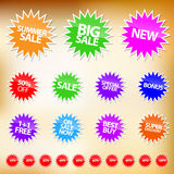 Vector Sales Stickers Stock Photography