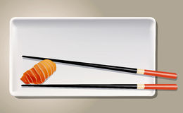 Vector of Salmon Nigiri Sushi Stock Photography