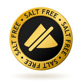 Vector salt free gold medal. Vector gold medal with symbol of salt free Royalty Free Stock Image