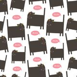 Vector sameless cat pattern. Royalty Free Stock Photos
