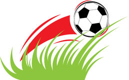 Vector samenstelling op een voetbalthema Stock Afbeeldingen