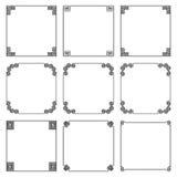 Vector Sammlung des einfachen quadratischen Rahmens in der griechischen Art Lizenzfreie Stockbilder