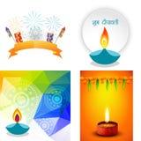Vector Sammlung verschiedene Arten von diwali Hintergrund Lizenzfreie Stockfotos