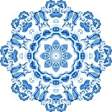Vector Sample Lace Asian Tile. Circle Background Stock Image