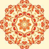 Vector Sample Lace Asian Tile. Circle Background. Vector Sample Lace Asian Curl Tile. Circle Background Royalty Free Stock Photos