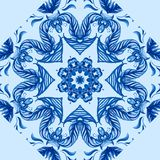 Vector Sample Lace Asian Tile. Circle Background Royalty Free Stock Photography