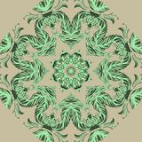 Vector Sample Lace Asian Tile. Circle Background Stock Photos