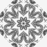Vector Sample Lace Asian Tile. Circle Background Royalty Free Stock Photos