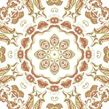 Vector Sample Lace Asian Tile. Circle Background Royalty Free Stock Images