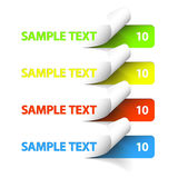 Vector Sample stickers Stock Photos