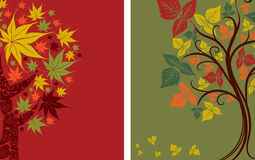 Vector samples of design with decorative tree Royalty Free Stock Photo