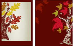 Vector samples of design with decorative tree Royalty Free Stock Images