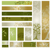 Vector samples of web-design (banners) with tree. Stock Images