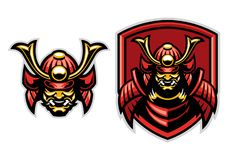 Samurai warrior mascot. Vector of samurai warrior mascot vector illustration