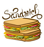 Vector Sandwich Royalty Free Stock Images