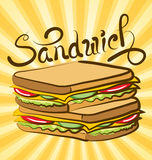 Vector Sandwich Stock Photography