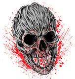Vector sangriento del ejemplo del cráneo libre illustration